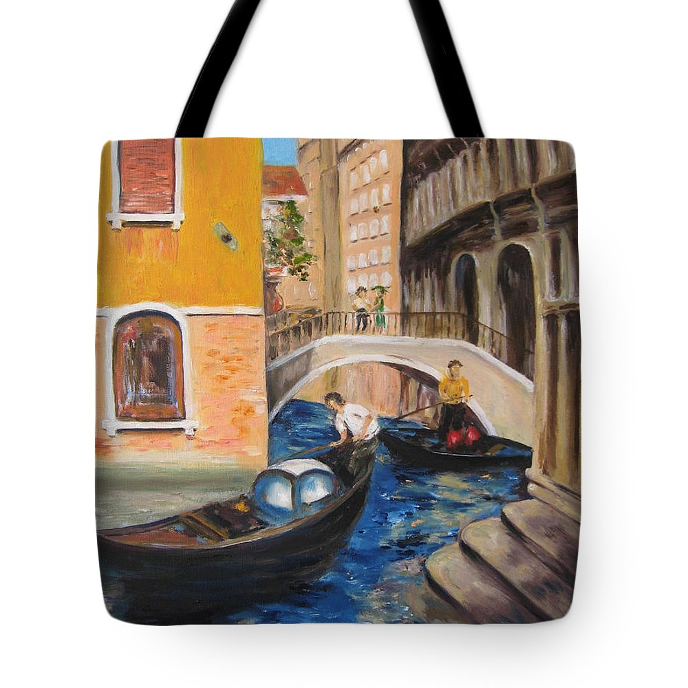 Landscape Tote Bag featuring the painting Venice Afternoon by Lisa Boyd
