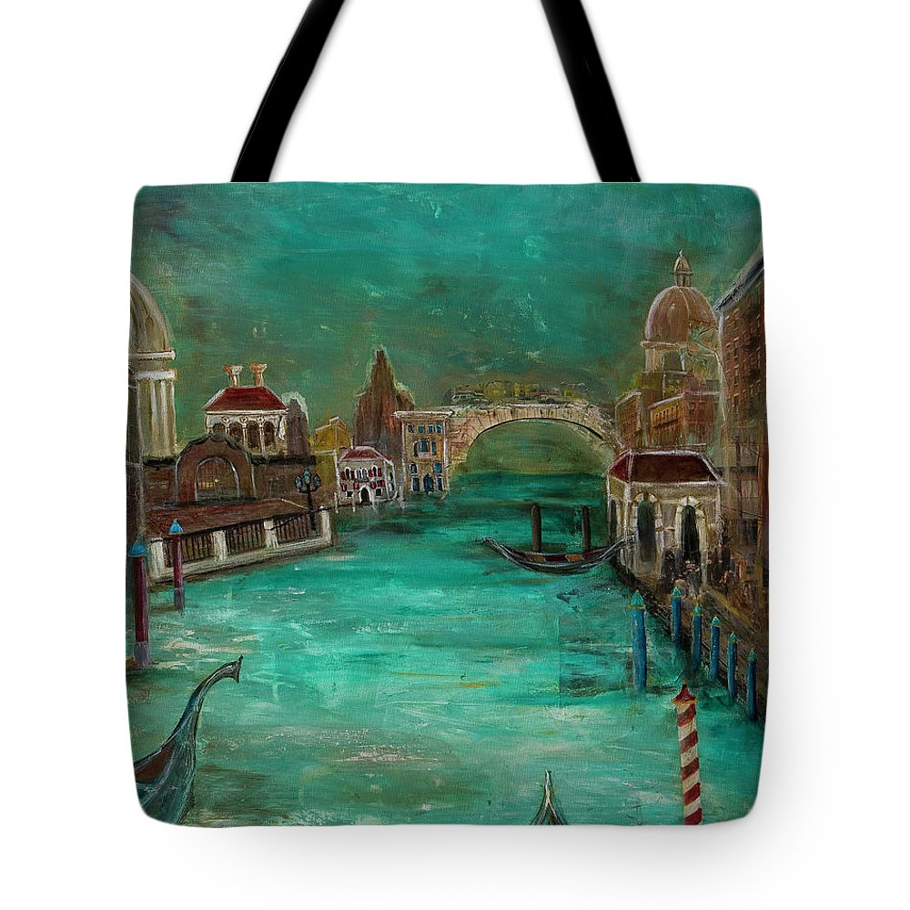 Venice Tote Bag featuring the painting Venice by Amani Hanson