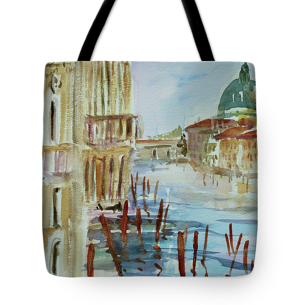 Venice Tote Bag featuring the painting Venice Impression III by Xueling Zou