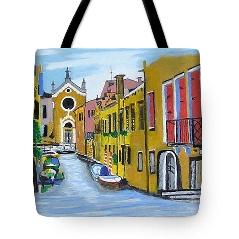 Venice Tote Bag featuring the painting Venice In September by Rod Jellison