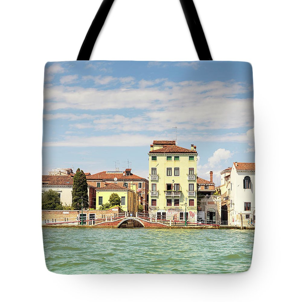 Elena Seychelles Tote Bag featuring the photograph Venice In Summer by Elena Seychelles