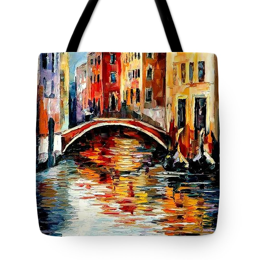 Landscape Tote Bag featuring the painting Venice by Leonid Afremov
