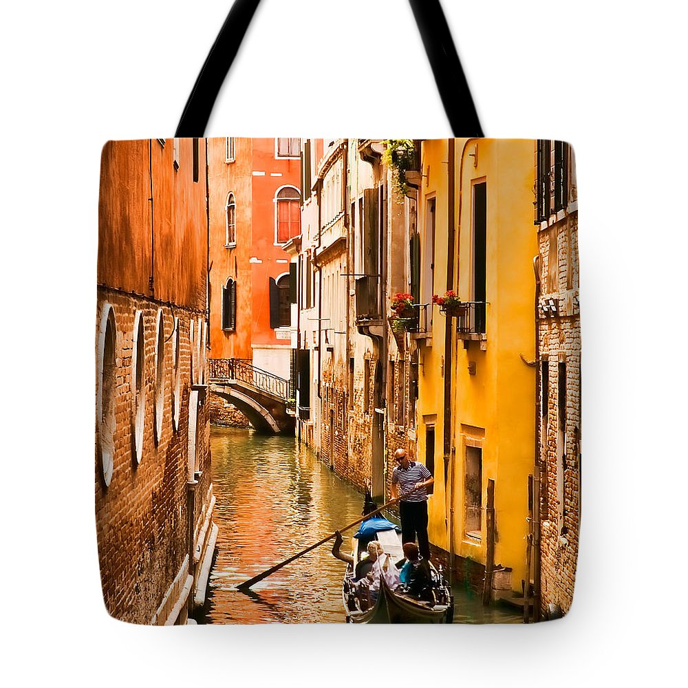 Venice Tote Bag featuring the photograph Venice Passage by Mick Burkey