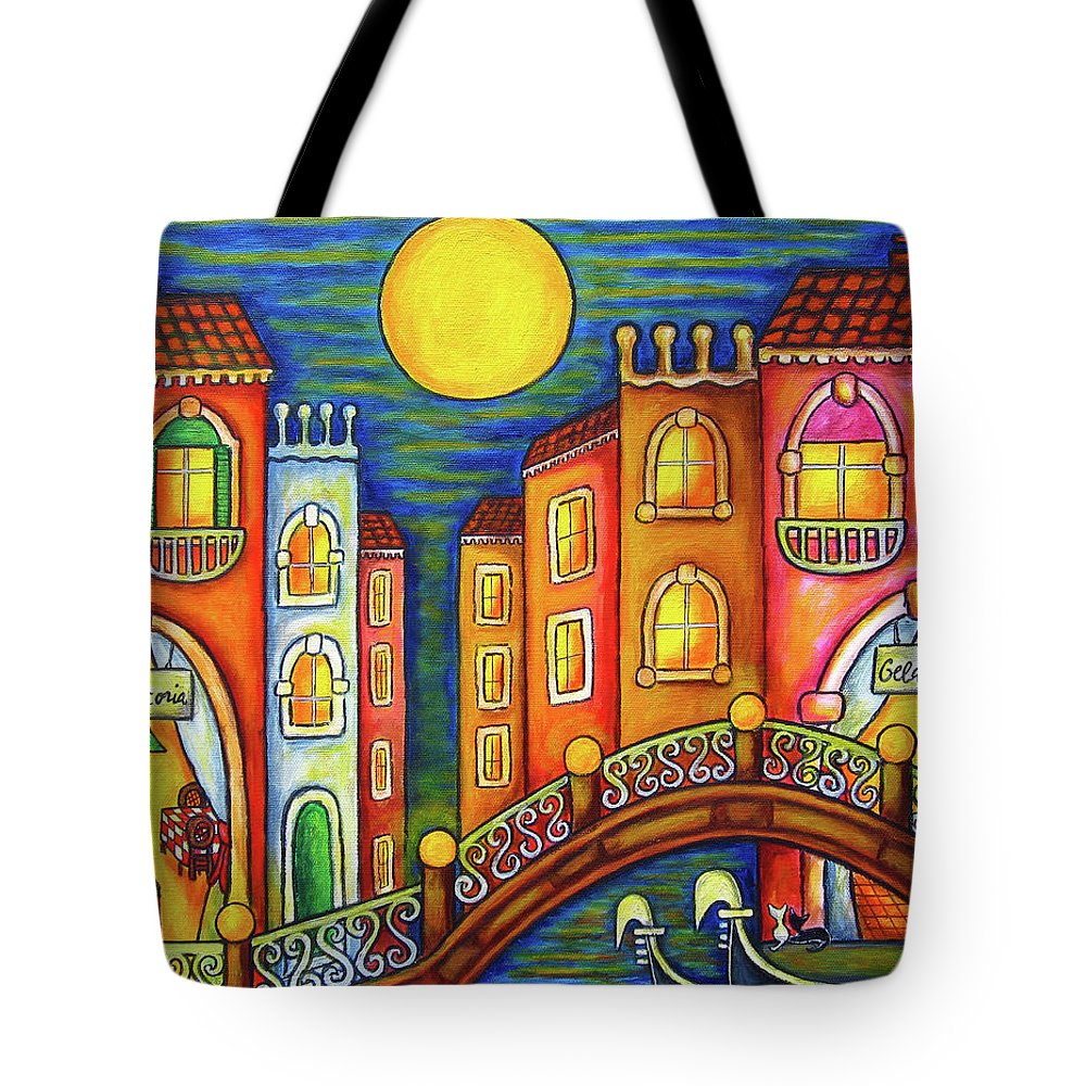 Colourful Tote Bag featuring the painting Venice Soiree by Lisa Lorenz