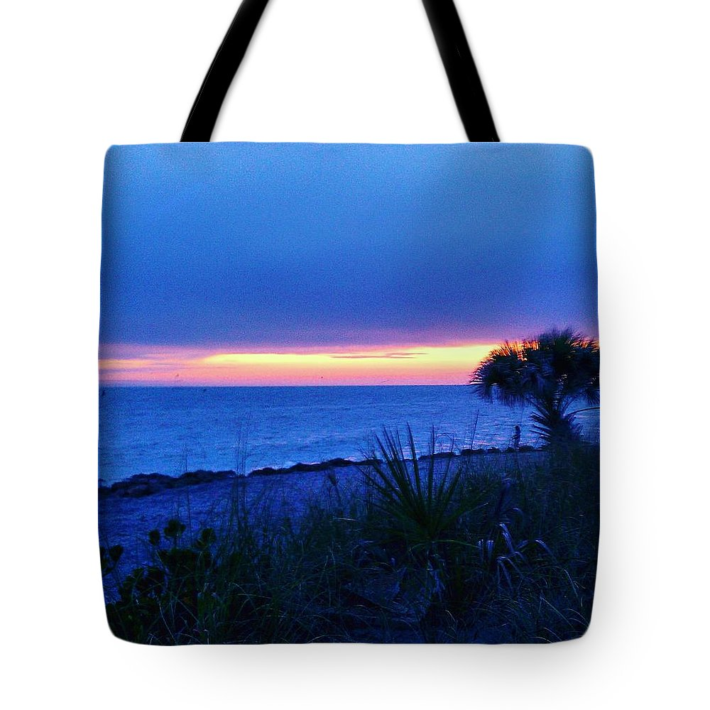Beach Tote Bag featuring the photograph Venice Twilight by Ric Schafer