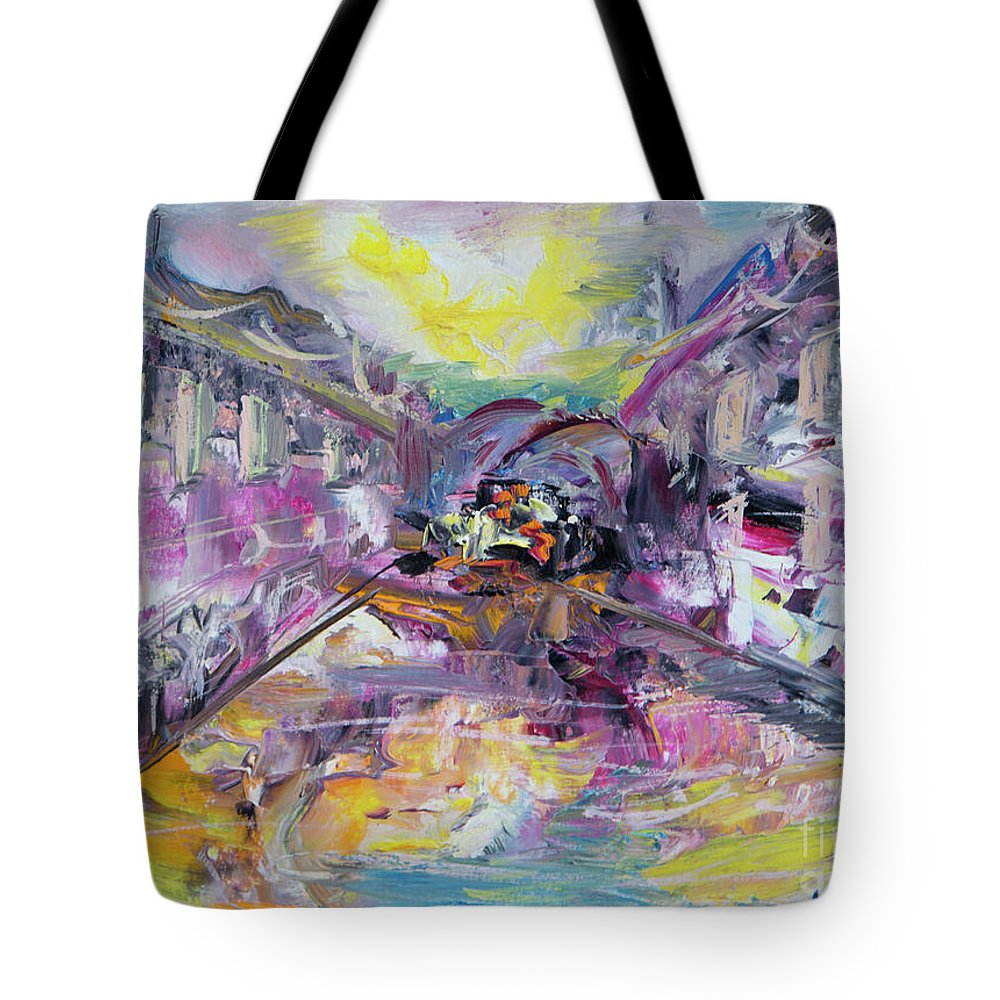Venice Tote Bag featuring the painting Venice by Yana Sadykova