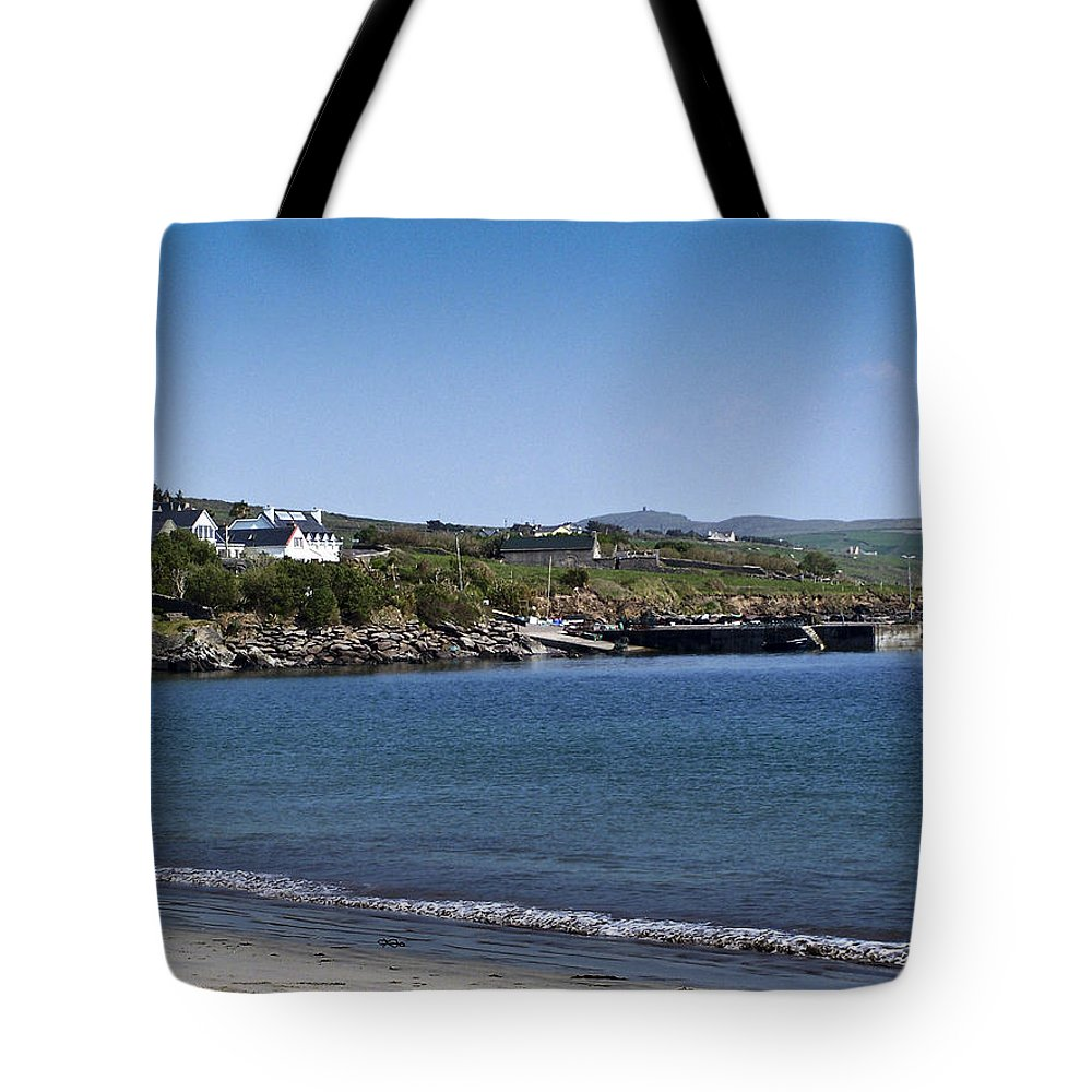 Irish Tote Bag featuring the photograph Ventry Beach And Harbor Ireland by Teresa Mucha