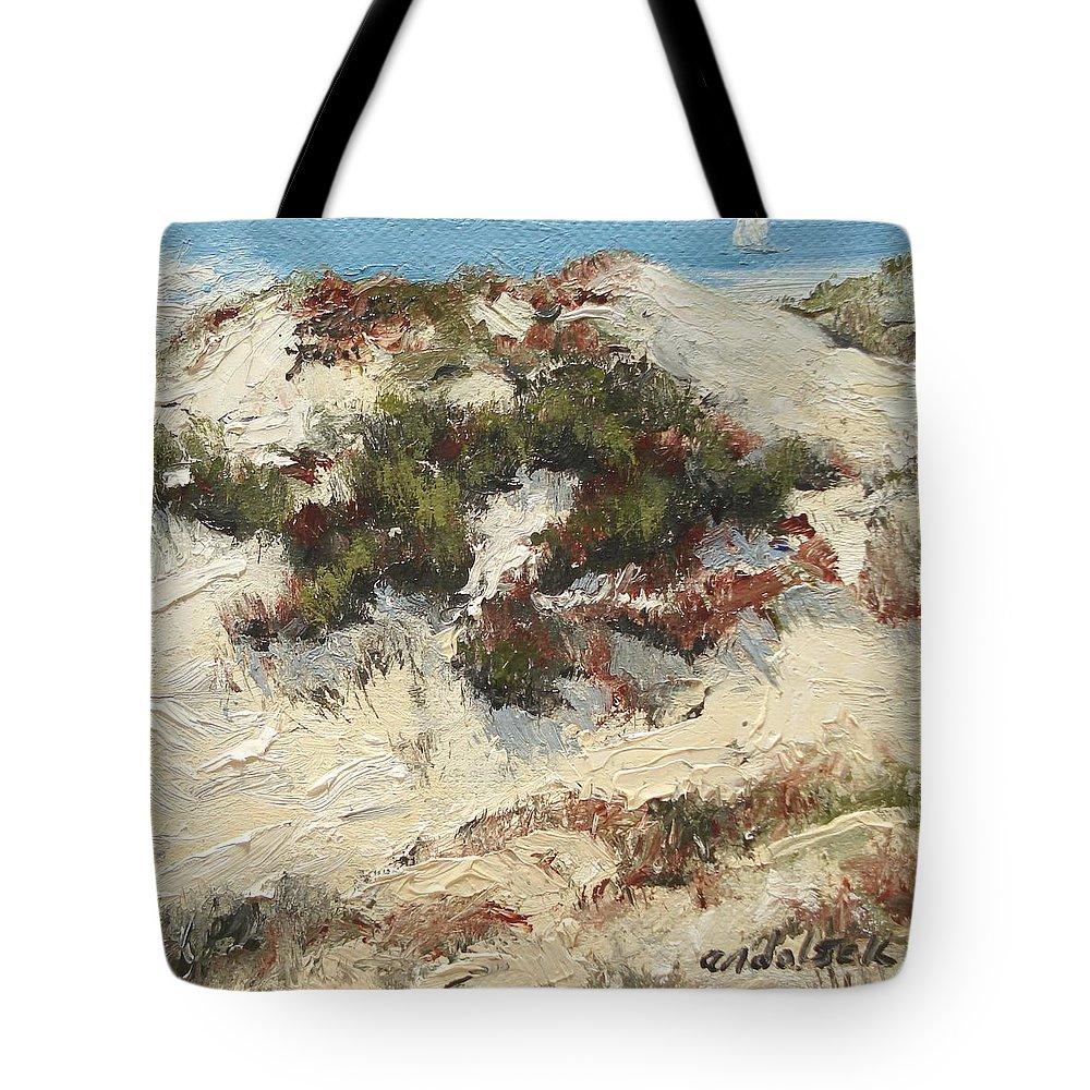 Water Tote Bag featuring the painting Ventura Dunes I by Barbara Andolsek