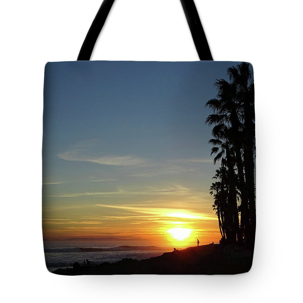Ventura Tote Bag featuring the photograph Ventura Sunset by Deborah England