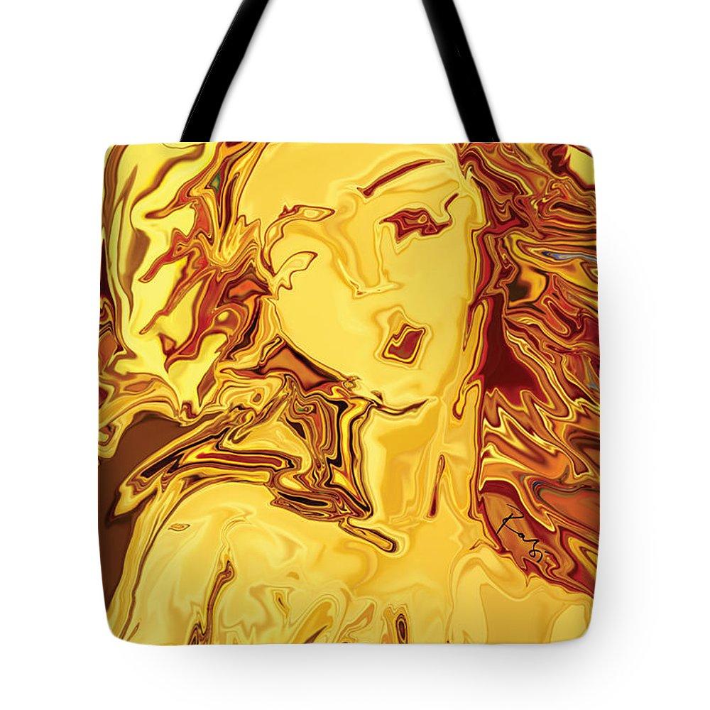 Tote Bag featuring the digital art Venus 2008 by Rabi Khan