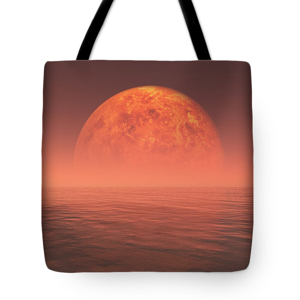 Earth Tote Bag featuring the digital art Venus by Jay Salton