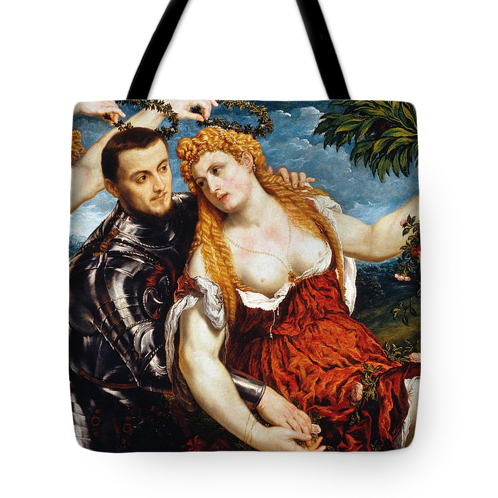 Aod Tote Bag featuring the photograph Venus, Mars & Cupid by Granger