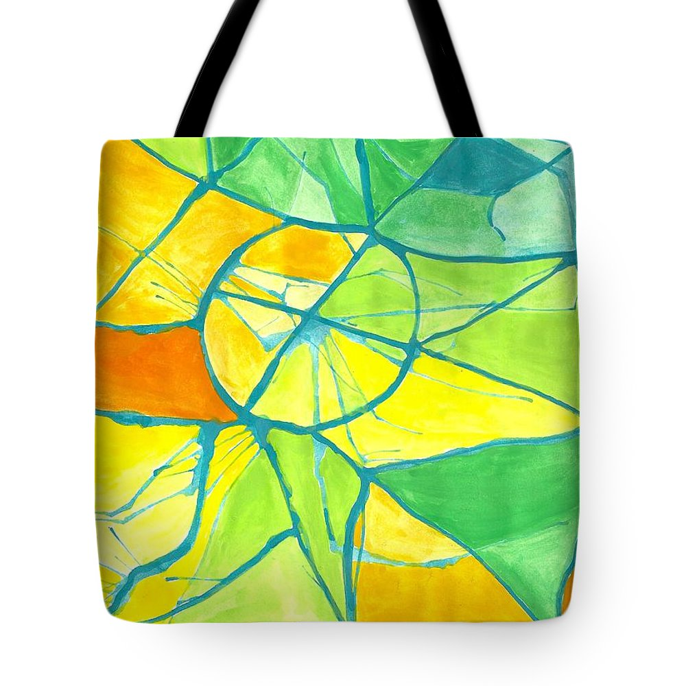 Abstract Verano Summer Tote Bag featuring the painting Verano Summer by Ivonne Sequera