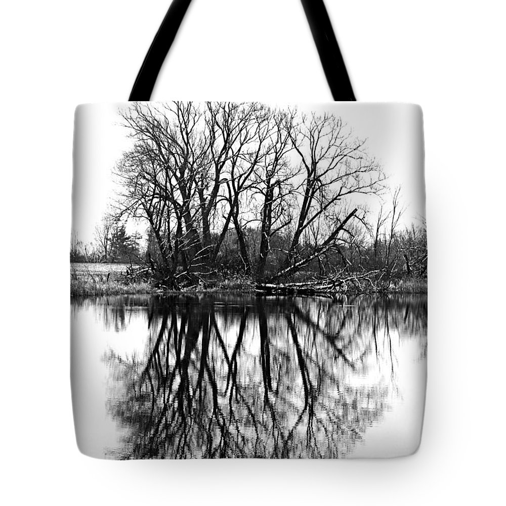 Black And White Tote Bag featuring the photograph Verge Of Spring by Debbie Oppermann