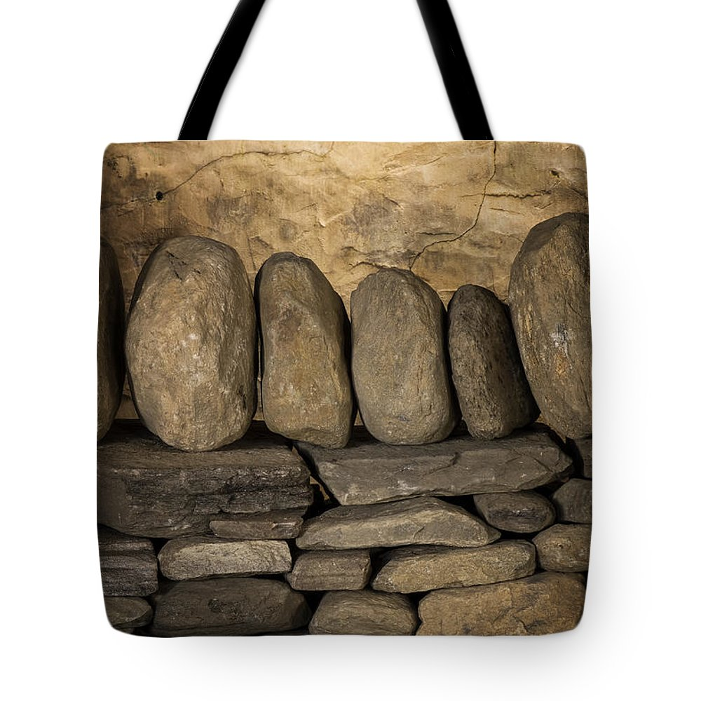 Scott Farm Vermont Tote Bag featuring the photograph Vermont Rock Wall by Tom Singleton