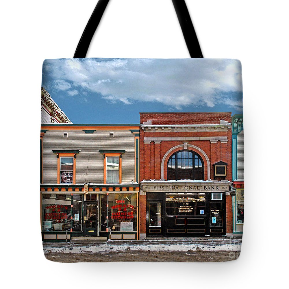 Bradley Tote Bag featuring the photograph Vermont Street Scene by Rich Despins