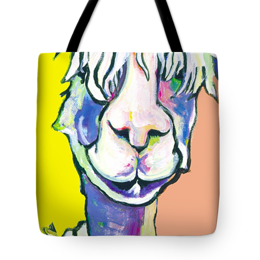 Mountain Animal Tote Bag featuring the painting Veronica by Pat Saunders-White