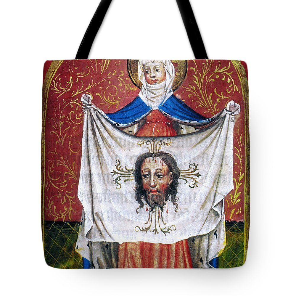 15th Century Tote Bag featuring the photograph Veronicas Veil by Granger