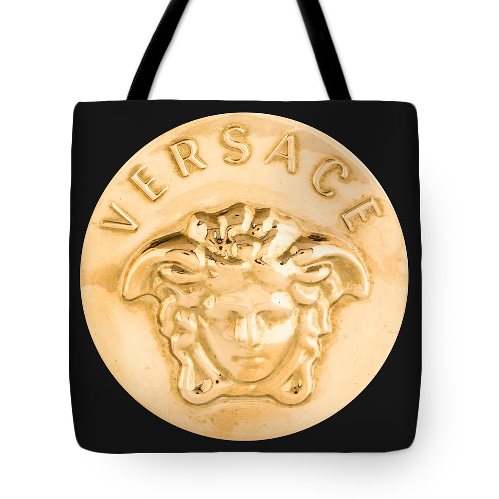 Versace Tote Bag featuring the painting Versace Jewelry-1 by Nikita