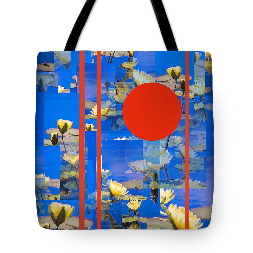 Flowers Tote Bag featuring the photograph Vertical Horizon by Steve Karol