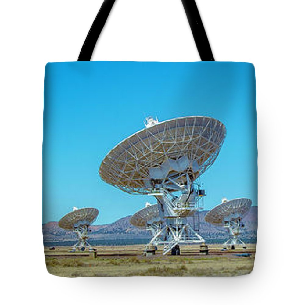 Very Tote Bag featuring the photograph Very Large Array Side View by Patrick Burke