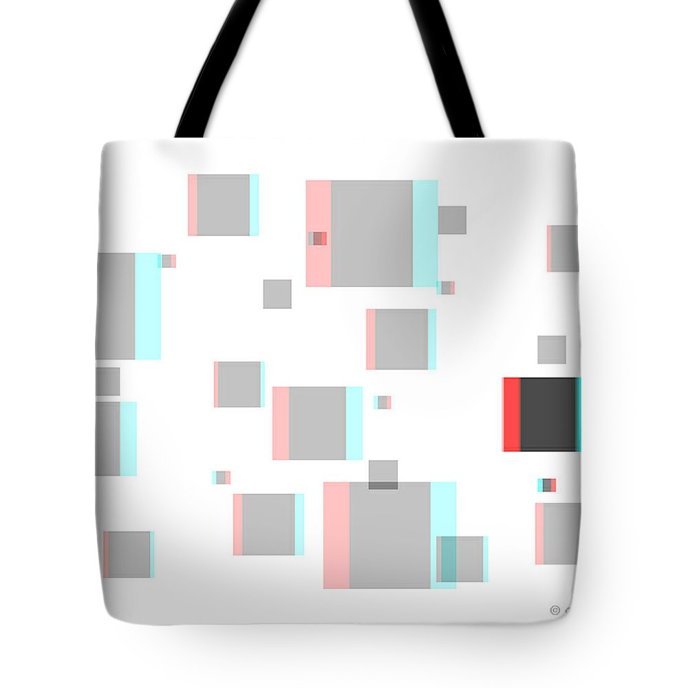 3d Tote Bag featuring the photograph Vexer 1 - Use Red-cyan 3d Glasses by Brian Wallace