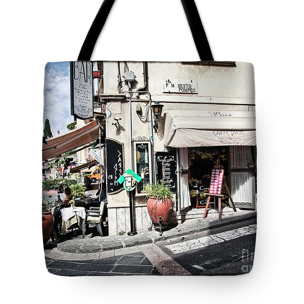 Restaurant Tote Bag featuring the photograph Via P. M. Sesto Pompeo by Madeline Ellis