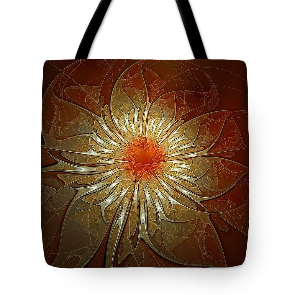 Digital Art Tote Bag featuring the digital art Vibrance by Amanda Moore