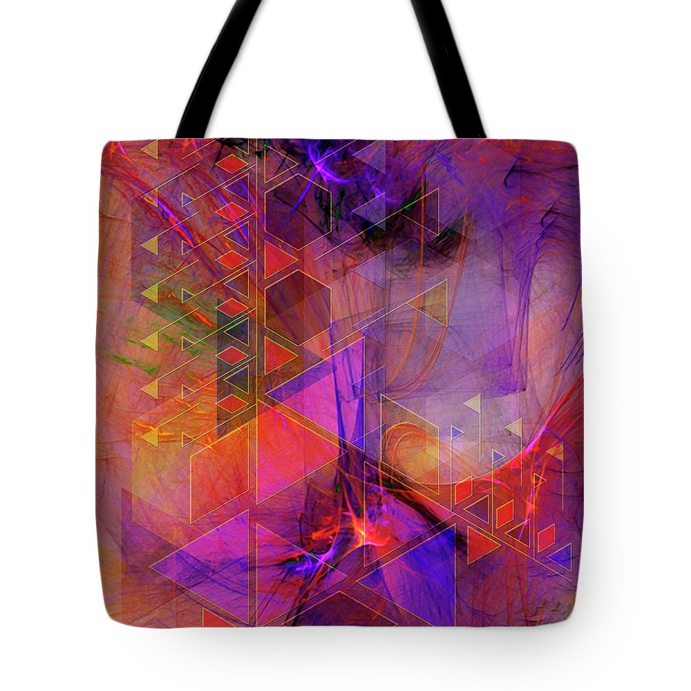 Vibrant Echoes Tote Bag featuring the digital art Vibrant Echoes by John Beck