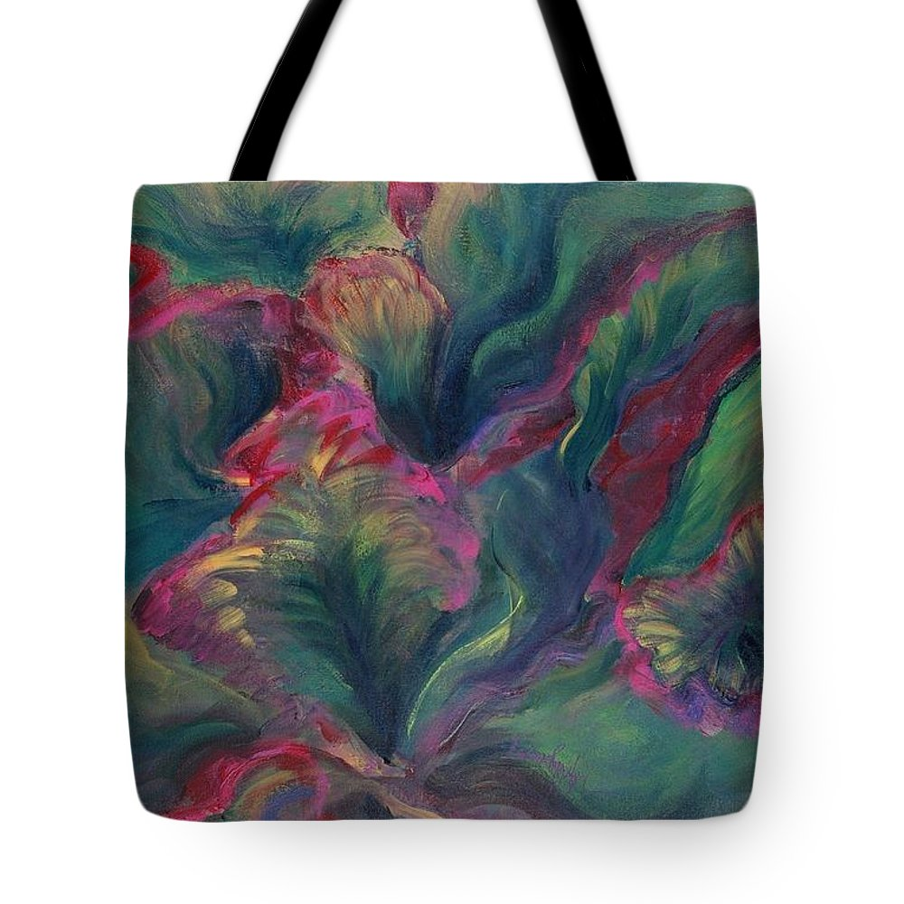 Leaves Tote Bag featuring the painting Vibrant Leaves by Nadine Rippelmeyer