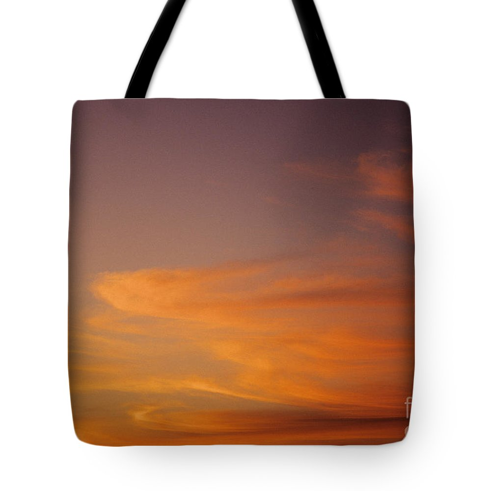 Afternoon Tote Bag featuring the photograph Vibrant Sunset by Carl Shaneff - Printscapes