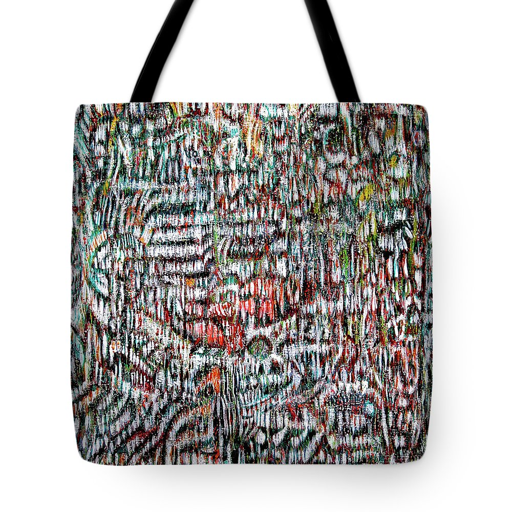 Imagination Tote Bag featuring the painting Vibration by Robert Gravelin