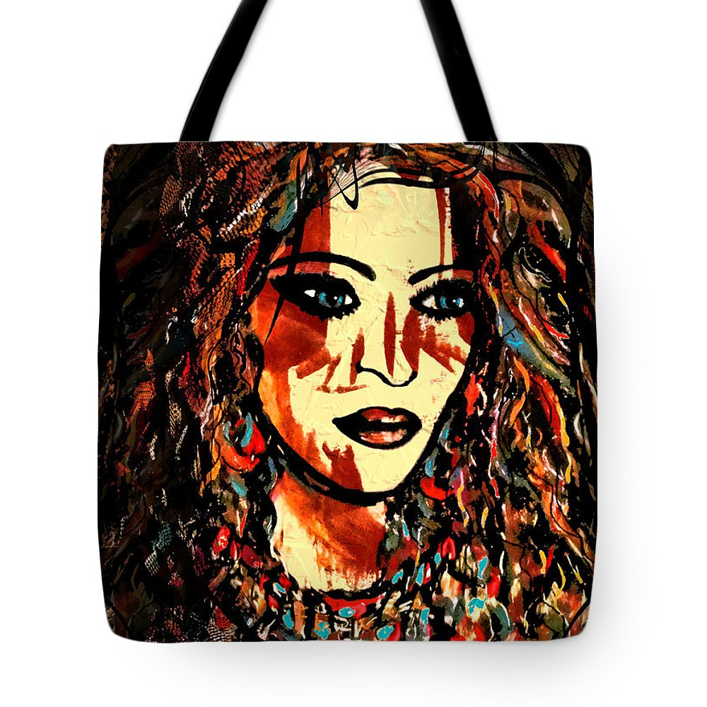 Portrait Tote Bag featuring the painting Victoria by Natalie Holland
