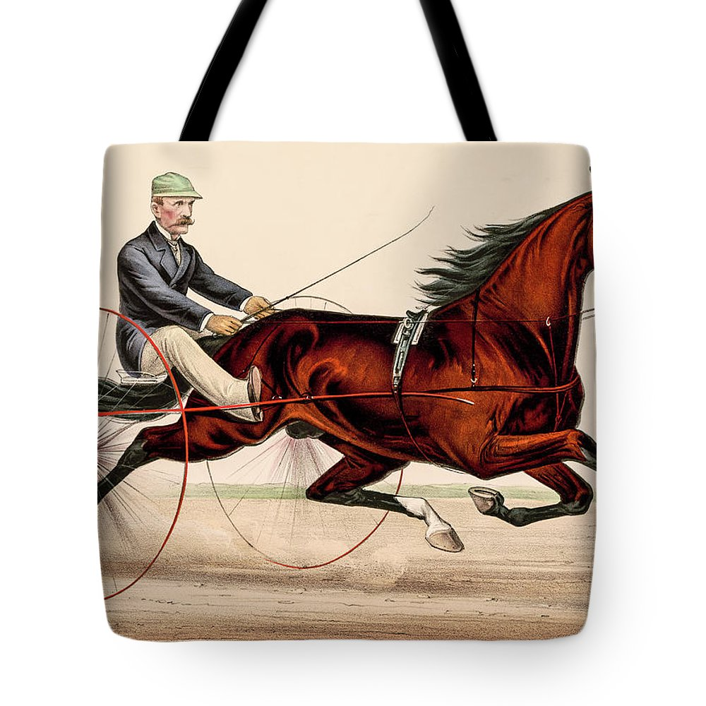 Cape May Tote Bag featuring the photograph Victorian Horse Carriage Race by David Letts