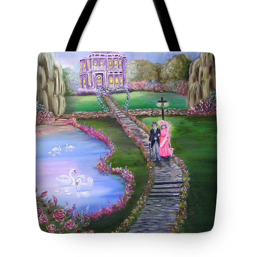 Victorian Tote Bag featuring the painting Victorian Romance 2 by Quwatha Valentine