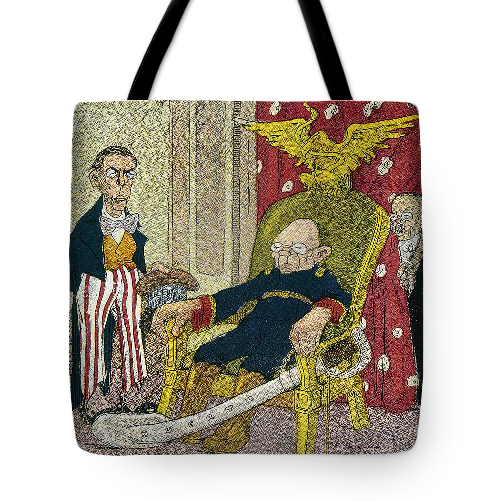 1913 Tote Bag featuring the photograph Victoriano Huerta by Granger