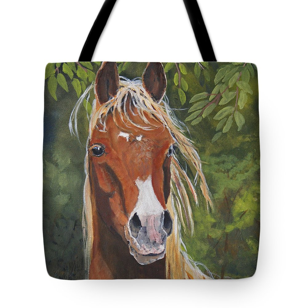 Horse Tote Bag featuring the painting Victory by Heather Coen