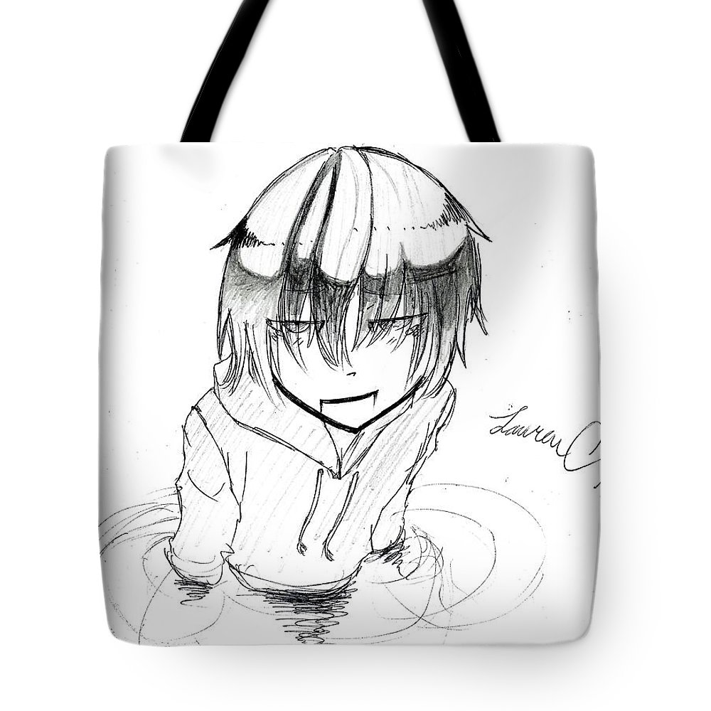 Akane Tote Bag featuring the drawing Victory by Lauren Champion