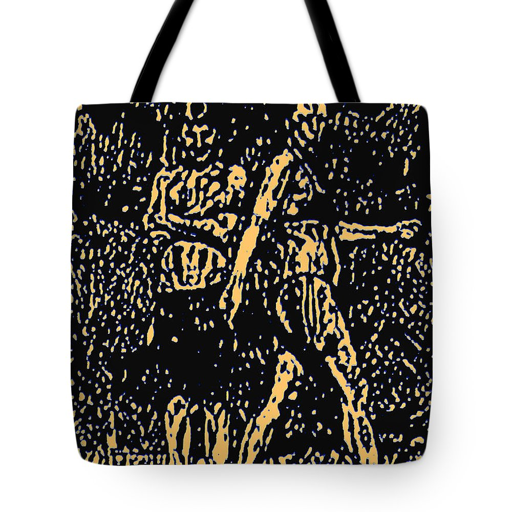 Tote Bag featuring the painting Video Still 6 by Steve Fields