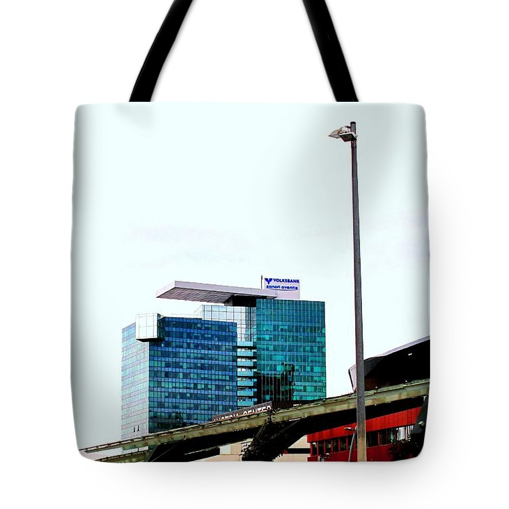 Vienna Tote Bag featuring the photograph Vienna Volksbank by Ian MacDonald