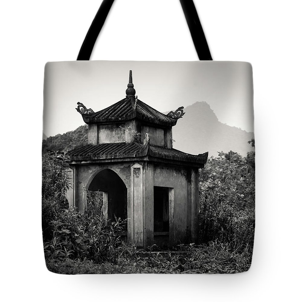 Vietnamese Shrine Tote Bag featuring the photograph Vietnamese Shrine by Dave Bowman