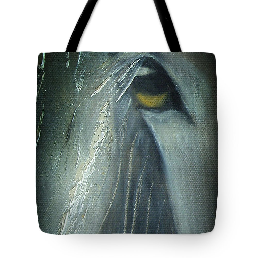 Horses Tote Bag featuring the painting View 2 by Gina De Gorna