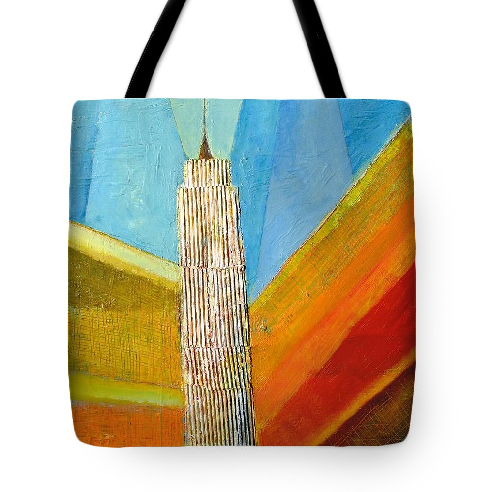 Abstract Cityscape Tote Bag featuring the painting View From 34th St by Habib Ayat