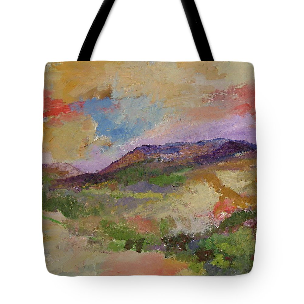 Hudson Valley Tote Bag featuring the painting View From Angola by James Gallagher