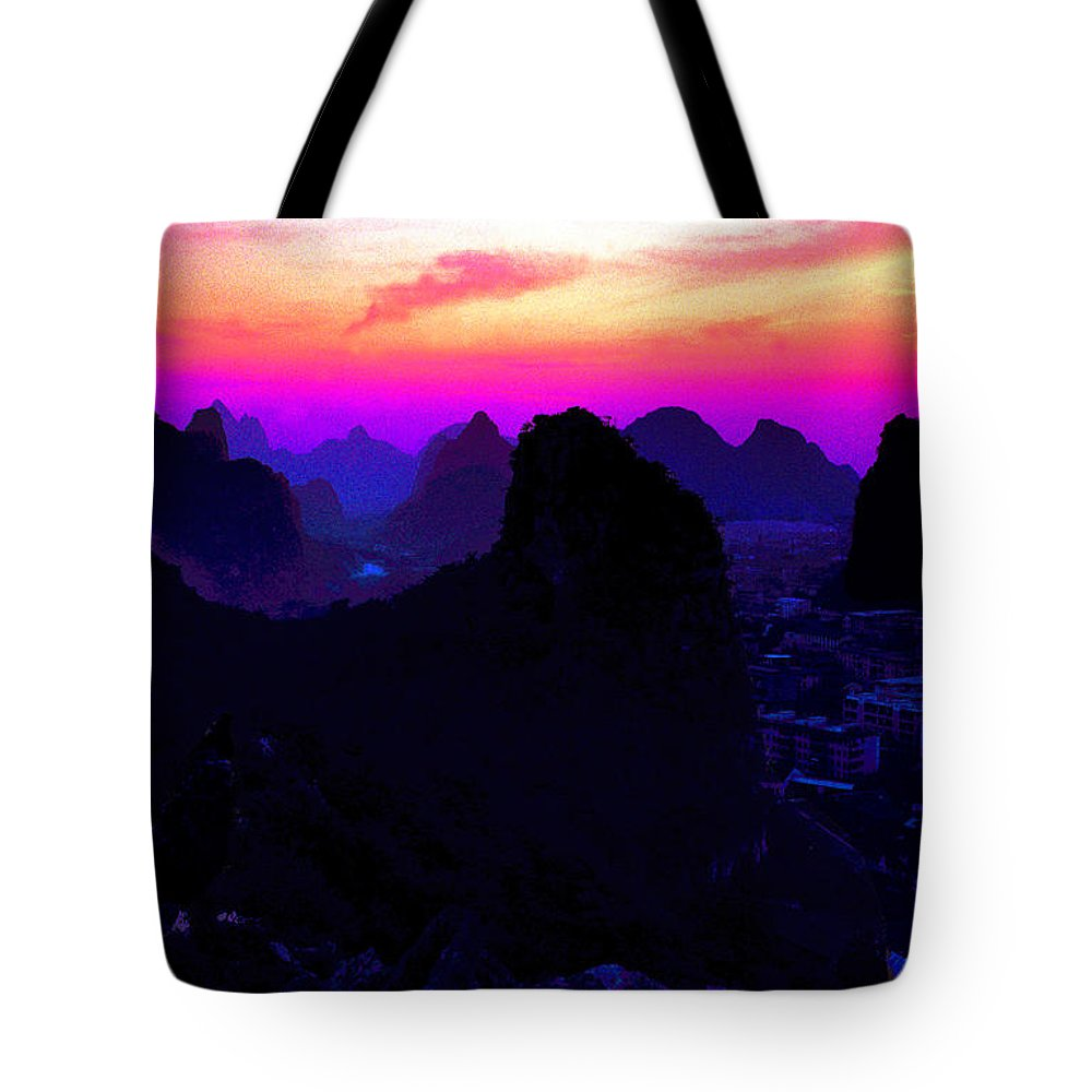 China Tote Bag featuring the photograph View From Elephant Trunk Hill by Marvin Wolf