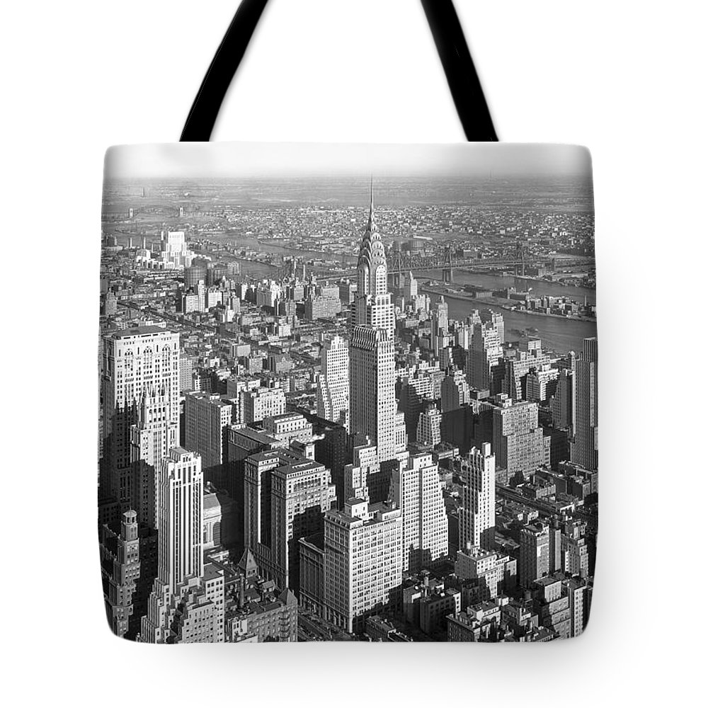 1930s Tote Bag featuring the photograph View From Empire State Bldg. by Samuel H. Gottscho