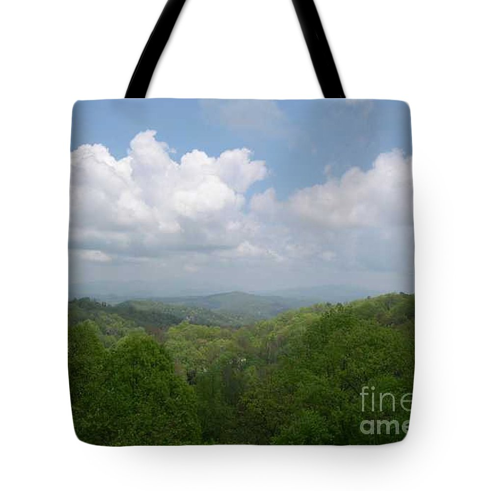Mountains Tote Bag featuring the photograph View From Ober Gatlinburg by Barb Montanye Meseroll