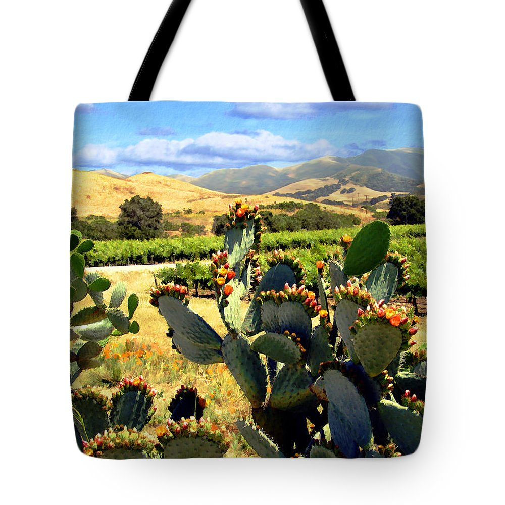 Vineyards Tote Bag featuring the photograph View From Santa Rosa Road by Kurt Van Wagner