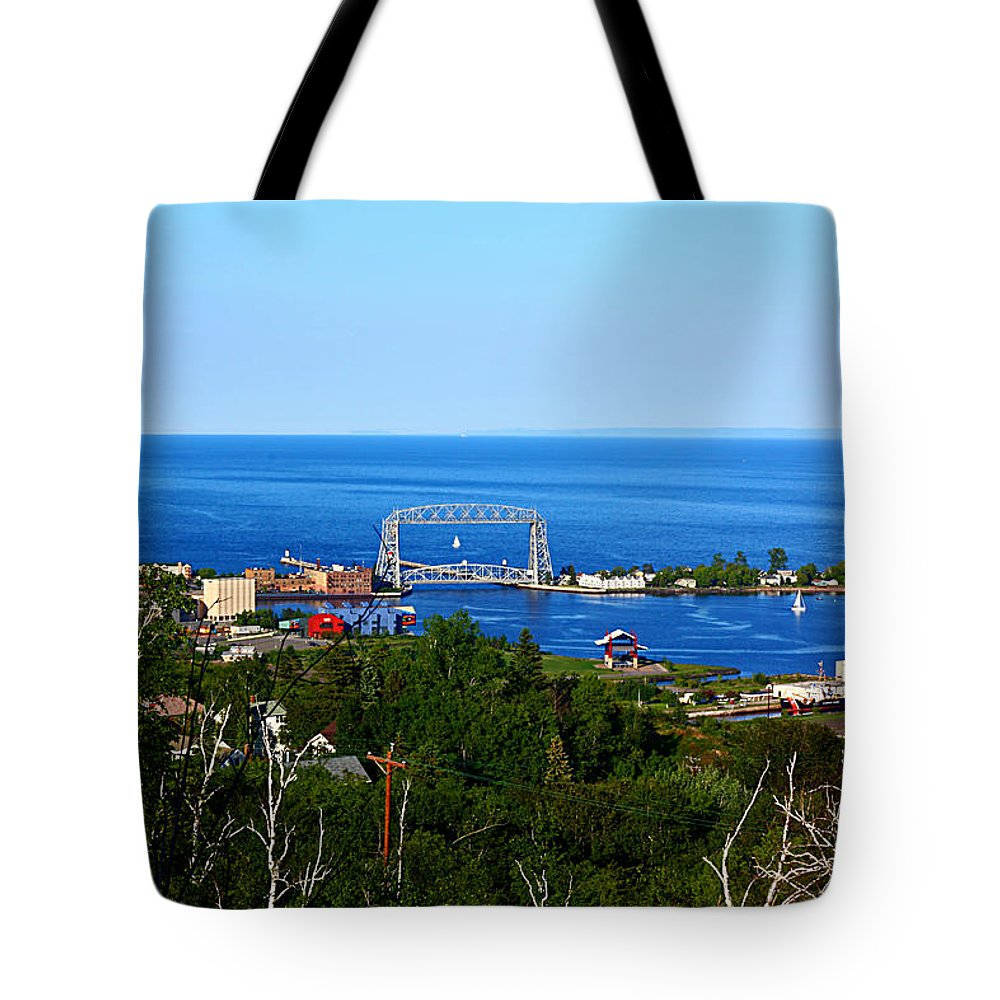 Landscape Tote Bag featuring the photograph View From The Hill by Bryan Benson