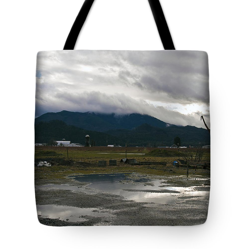 Clay Tote Bag featuring the photograph View From The Horse Barn by Clayton Bruster